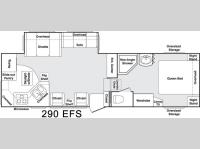 Floorplan - 2004 Keystone RV Cougar 290 EFS
