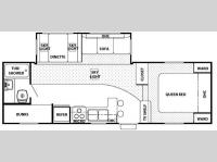Floorplan - 2007 Forest River RV Cherokee 245B