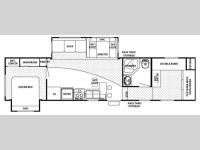 Floorplan - 2007 Forest River RV Cherokee 295B