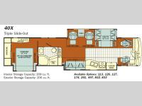 Floorplan - 2008 Fleetwood RV Discovery 40X