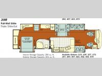 Floorplan - 2008 Fleetwood RV Discovery 39R