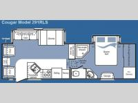Floorplan - 2008 Keystone RV Cougar 291RLS
