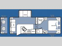 Floorplan - 2008 Keystone RV Cougar 244RLS