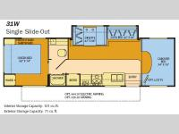 Floorplan - 2008 Fleetwood RV Tioga 31W