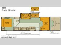 Floorplan - 2008 Fleetwood RV Jamboree GT 31W