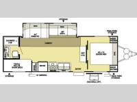 Floorplan - 2008 Forest River RV Wildwood LE 26TBSS