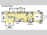 Floorplan - 2008 Forest River RV Wildwood LE 32BHDS