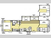 Floorplan - 2008 Forest River RV Wildwood LE 36BHSS