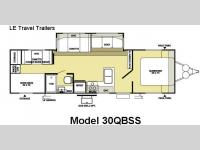 Floorplan - 2008 Forest River RV Wildwood LE 30QBSS