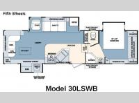 Floorplan - 2007 Forest River RV Wildcat 30LSWB