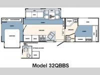 Floorplan - 2007 Forest River RV Wildcat 32QBBS
