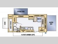 Floorplan - 2005 Jayco Jay Feather EXP 21 J