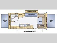 Floorplan - 2005 Jayco Jay Feather EXP 23 B