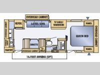 Floorplan - 2005 Jayco Jay Feather LGT 25 Z