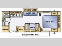 Floorplan - 2005 Jayco Jay Feather LGT 26 S
