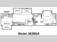 Floorplan - 2008 Forest River RV Cedar Creek 362BSA