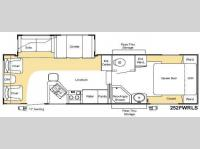 Floorplan - 2008 Keystone RV Sprinter Copper Canyon 252FWRLS