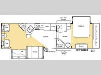 Floorplan - 2008 Keystone RV Sprinter Copper Canyon 302FWRLS