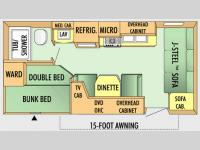 Floorplan - 2008 Jayco Jay Flight 19 BH
