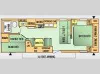 Floorplan - 2008 Jayco Jay Flight 26 BH