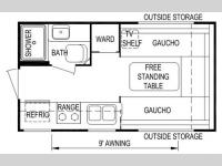 Floorplan - 2008 Skyline Nomad 150 Ltd.