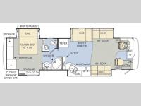 Floorplan - 2008 Monaco Knight 38 PDQ