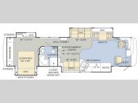Floorplan - 2008 Monaco Knight 40 SKQ