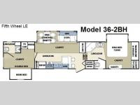 Floorplan - 2008 Forest River RV Cardinal LE 36-2BH