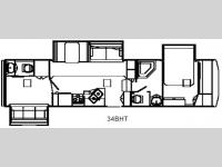 Floorplan - 2008 Holiday Rambler Alumascape 34BHT