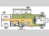 Floorplan - 2008 Forest River RV Flagstaff 831QBSS