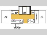 Floorplan - 2007 Forest River RV Flagstaff High Wall HW25S-C