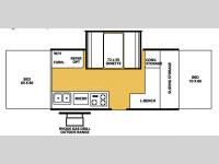 Floorplan - 2007 Forest River RV Flagstaff High Wall HW25ST