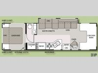 Floorplan - 2008 Four Winds RV Chateau 31P