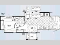 Floorplan - 2008 Winnebago Tour 40TD
