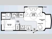 Floorplan - 2008 Itasca Cambria 26A