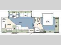 Floorplan - 2008 Forest River RV Wildcat 28RKBS