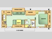 Floorplan - 2008 Jayco Jay Flight 24 RKS
