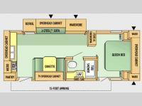 Floorplan - 2008 Jayco Jay Flight G2 25 RKS