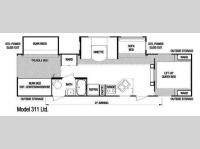 Floorplan - 2008 Skyline Nomad 311 Ltd