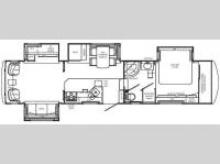 Floorplan - 2008 Holiday Rambler Presidential Suite 37 RLQ