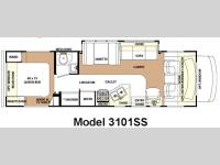 Floorplan - 2007 Forest River RV Forester 3101SS
