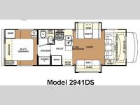 Floorplan - 2008 Forest River RV Forester 2941DS