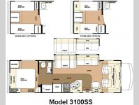 Floorplan - 2008 Forest River RV Sunseeker 3100SS