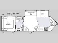 Floorplan - 2008 R-Vision Trail Bay TB-28FKV
