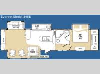 Floorplan - 2008 Keystone RV Everest 345S