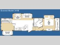 Floorplan - 2008 Keystone RV Everest 341B