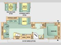 Floorplan - 2008 Jayco Jay Flight G2 29 RLS