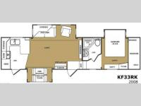 Floorplan - 2008 CrossRoads RV Kingston KF33RK
