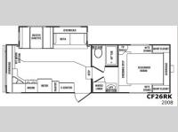 Floorplan - 2008 CrossRoads RV Cruiser CF26RK
