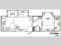 Floorplan - 2008 CrossRoads RV Cruiser CF29RK